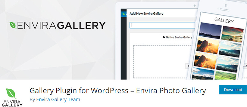 enviragallery free WordPress gallery plugins