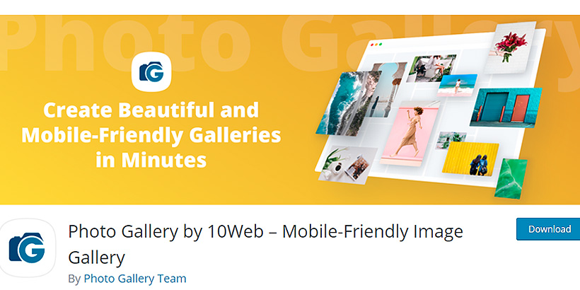 photogallery free WordPress gallery plugins