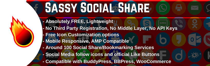 sassy social free social sharing plugins WordPress