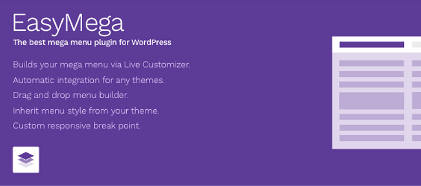 easymega best free wordpress mega menu plugins