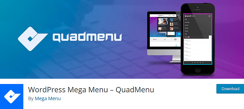quadmenu best free wordpress mega menu plugins