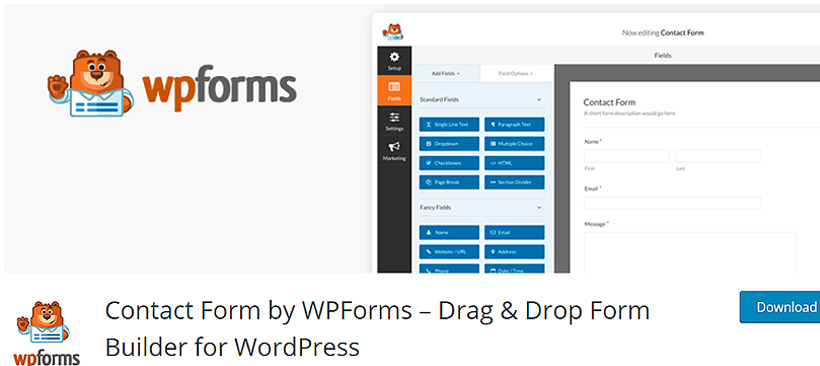 wpforms Free WordPress Contact Form Plugins