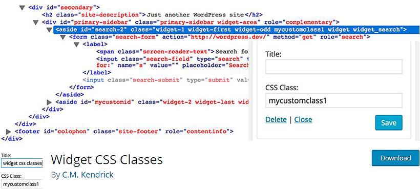 widgetclass free wordpress CSS plugins