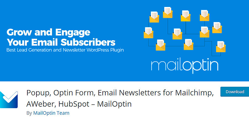 mailoption wordpress newsletter plugins