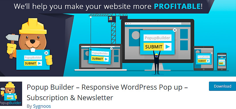 popupbuilder wordpress newsletter plugins
