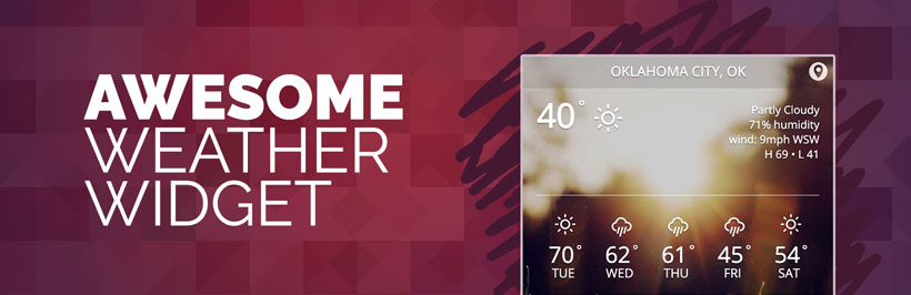awesome free wordpress weather widget