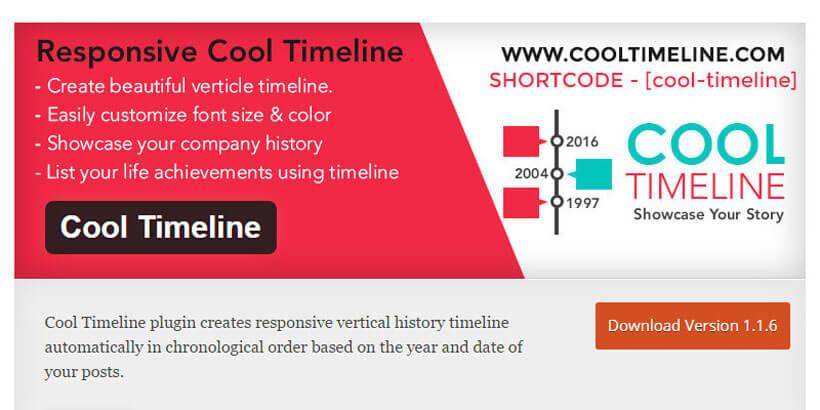 cool timeline WordPress Timeline Plugins