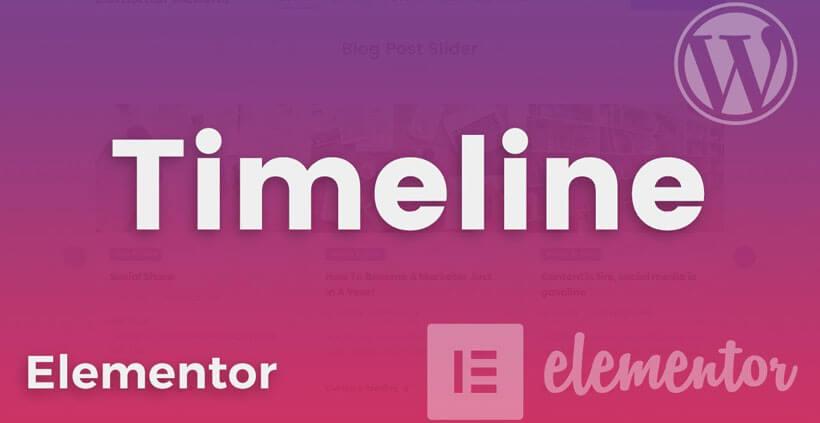 elementor timeline