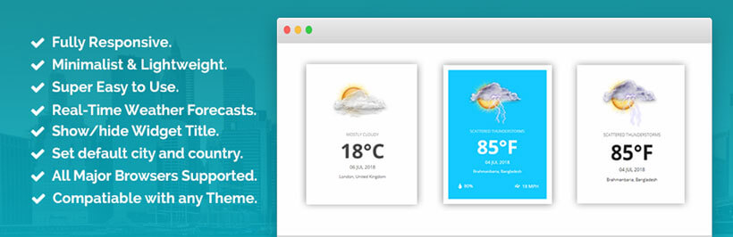 shaped-plugin free wordpress weather widget
