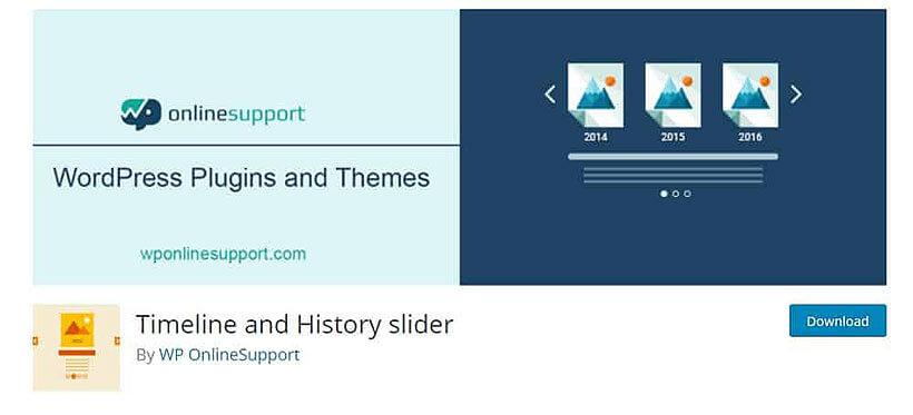 timeline history slider WordPress Timeline Plugins
