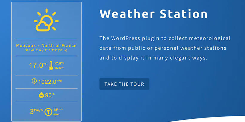 weather-station free wordpress weather widget