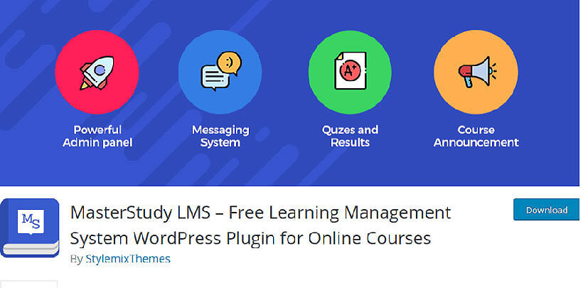 MasterStudy wordpress lms plugins