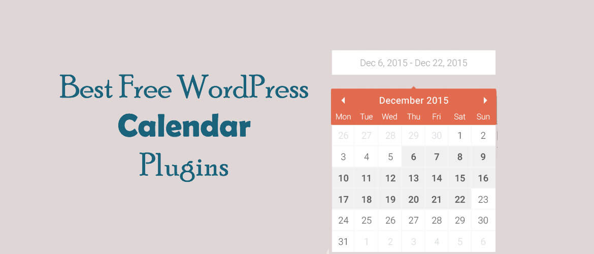 8 + Best Free WordPress Calendar Plugins 2020