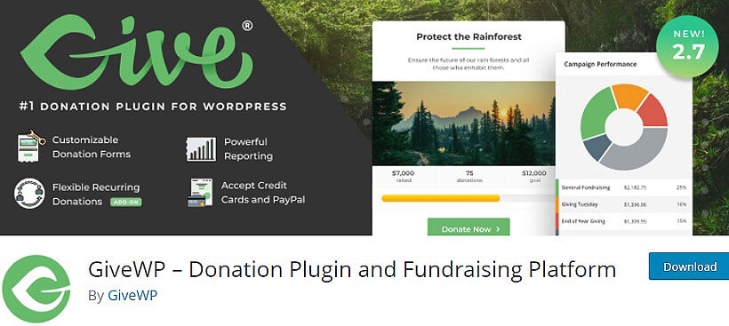 givewp wordpress donation plugins