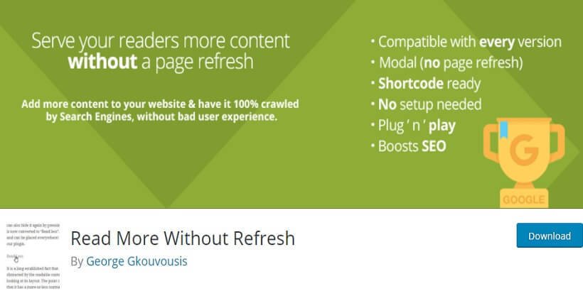 without refresh wordpress read more plugins