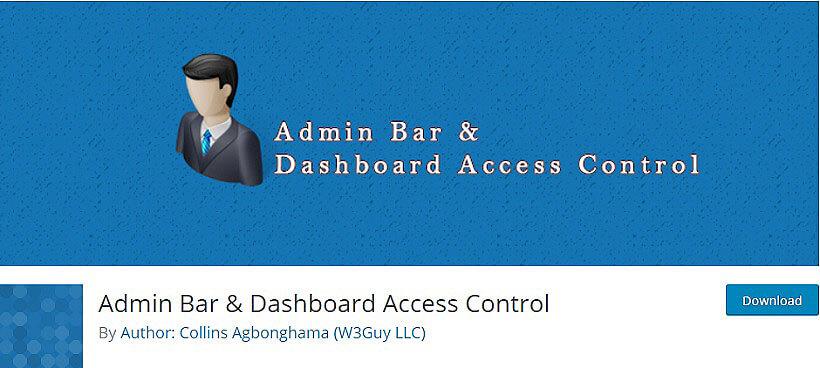 admin bar wordpress dashboard plugins
