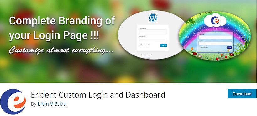 erident custom wordpress dashboard plugins