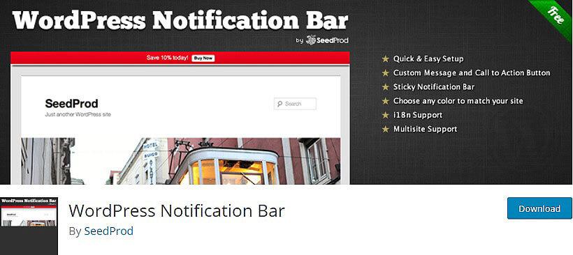 wordpress notification