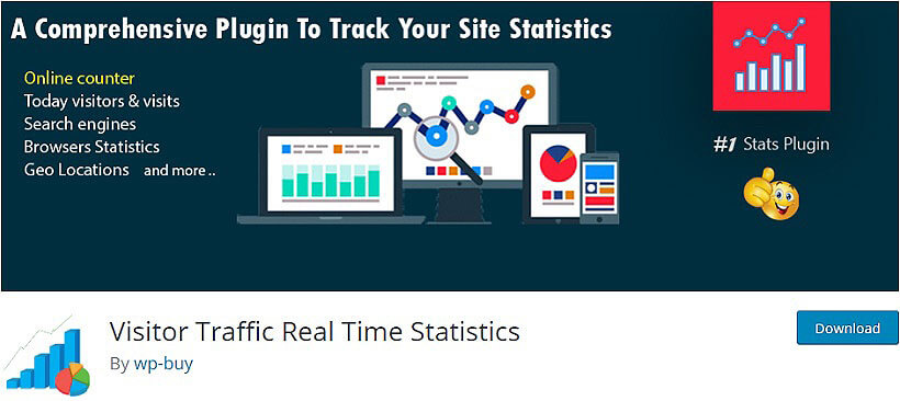 Visitor Traffic Real Time Statistics wordpress visitor counter plugins