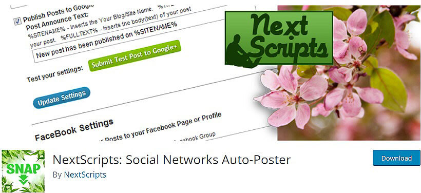 nextscripts wordpress auto poster plugins