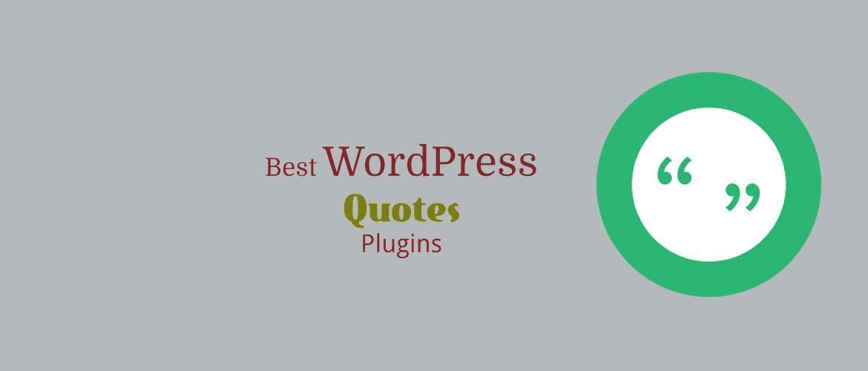 Best WordPress Quotes Plugins