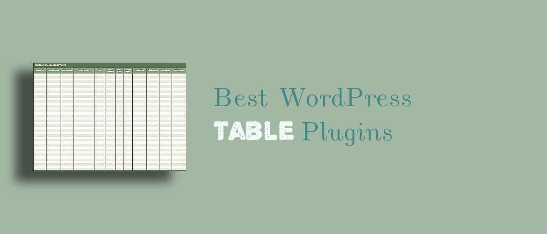 6 + Best WordPress Table Plugins 2021