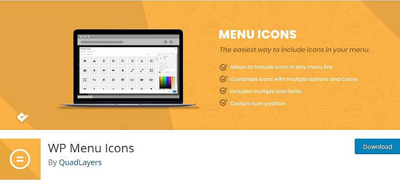 wp menu icons