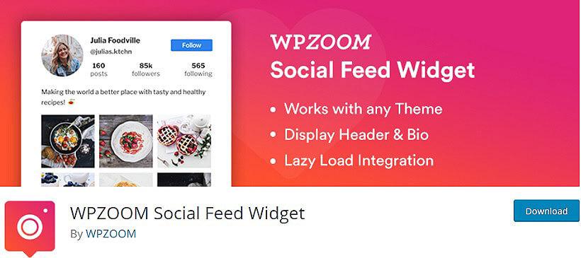 wpzoom soxial feed wordpress instagram feeds plugins