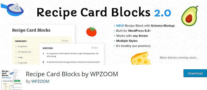 recipe card blocks WordPress Recipe Plugins