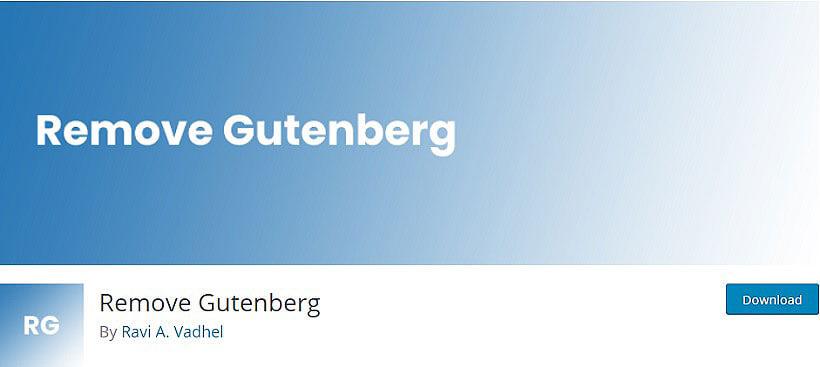 remove gutenberg