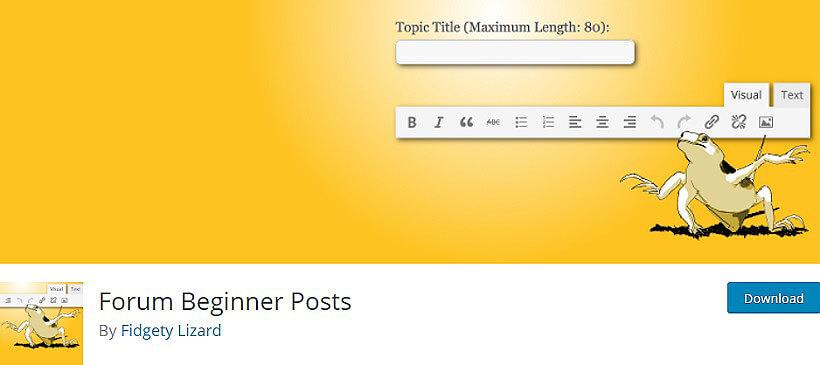 forum beginner